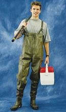 2W Rubber Chest Waders (Size 8)