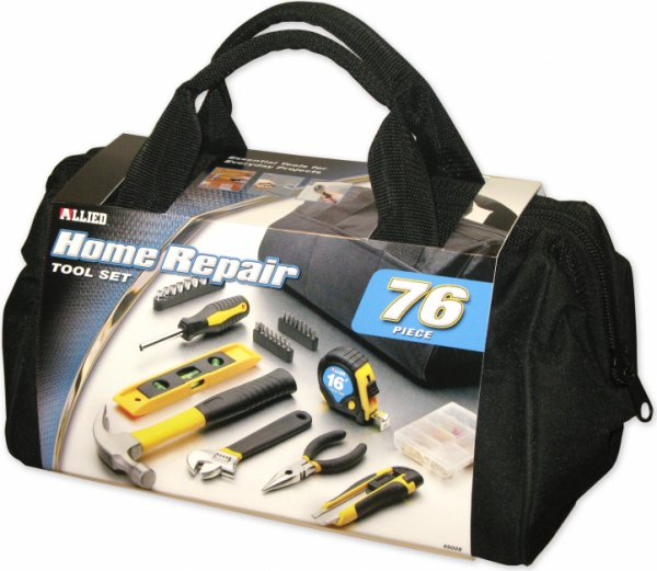 76PC Home Repair Tool Set w/ Tool Bag