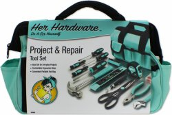 123pc Ladies Tool Set w/ Tiffany Blue Tool Bag
