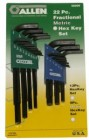 Allen 22PC Fractional/Metric Combo Hex Key Set Long & Short Series