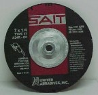 "Sait 7"" x 1/4"" Grinding Disc w/Hub (10 Wheels)"