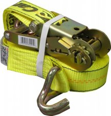 "Allied 2"" x 27' Ratchet Strap With J-HOOK DOT Approved"