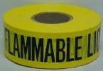 "Harris 3"" x 1000' Caution Flammable Liquid Barricade Tape"