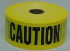 "3"" x 1000' Yellow Caution Barricade Tape"