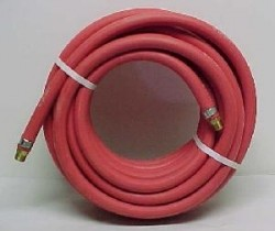 "Goodyear 1/2"" x 50' USA Red Rubber Air Hose with 1/2"" Fittings (USA)"