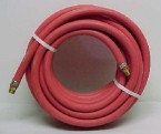 "1/2"" x 50' USA Red Rubber Air Hose with 1/2"" Fittings(USA)"