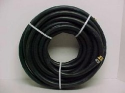 "Goodyear/Continental 3/4"" x 50' USA Black Rubber Water Hose"