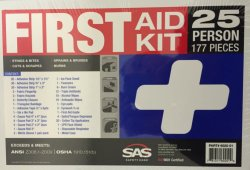25 Person OSHA First Aid Kit w/ Eyewash