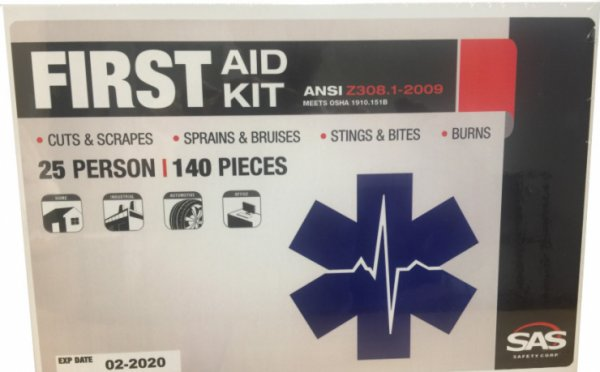 25 Person OSHA/ANSI Approved  First Aid Kit (USA)