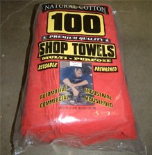 Red Cotton Shop Rags (100PK)
