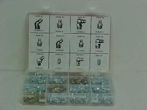Mize 100PC Grease Fitting Assortment Kit (Metric)