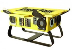 Yellow X-Treme Box Portable Power Distribution Center  (Twist-Lock)