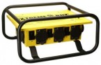 Yellow X-Treme Box Power Distribution Center Twist-Lock w/Roll Cage