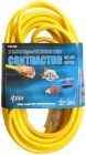 12/3 50' Yellow Contractor Extension Cord w/ Lighted End(USA MADE)
