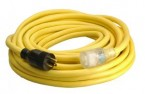 Coleman Cable 50' 10/3 SJTOW 5-20P to Lighted 5-20R (2 Cords)