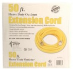 10/3 50' Yellow Contractor Extension Cord w/ Lighted End