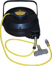 Coleman Cable 12/3 50' Luma-Site Industrial Retractable Cord Reel