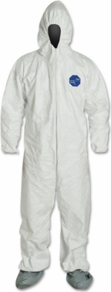 Tyvek 2X-Large Protective Coveralls W/ Hoods and Booties (25pk)
