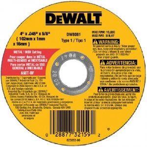 Dewalt 4-1/2'' x .045 x 7/8'' Thin Cutting Wheel for Metal (25 Wheels)