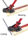 "Manual Rebar Cutter & Bender (1/2"" Capacity)"