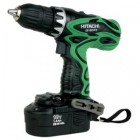 "Hitachi 18V Cordless 1/2"" Driver Drill Kit w/ Flashlight"