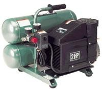 Hitachi 2 HP Electric Portable Air Compressor, Oil Lubricated