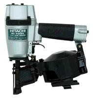 Hitachi Air Roofing Nailer, Coil, Wire Collation