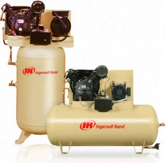 IR 120 Gallon 10HP Two-Stage Electric Horizontal Air Compressor