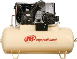 IR 10-HP 120-Gallon Horizontal Tank Air Compressor 3-Phase 460v