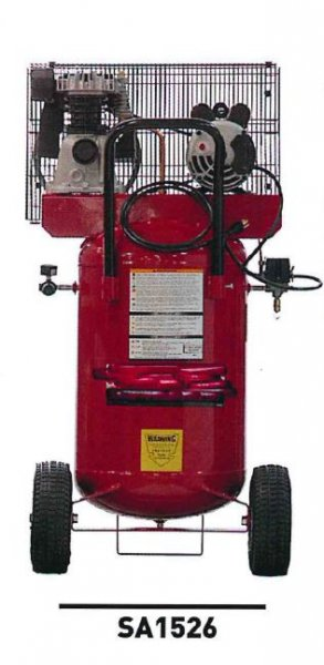 2-HP 26 Gallon Vertical Stationary Electric Air Compressor