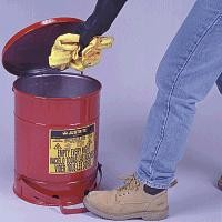Justrite 6-Gallon Foot Operated Cover Oily Waste Can