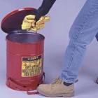 Justrite 14-Gallon Foot Operated Cover Oily Waste Can