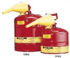 Justrite 5-Gallon Safety Can Type I Red w/Funnel(Flammables)
