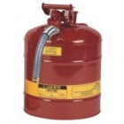 "Justrite 5-Gallon Safety Can w/ 1""-Hose Type II"