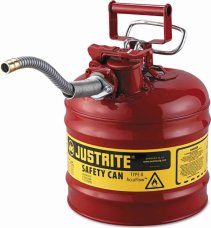 "Justrite 2-Gallon Safety Can w/ 5/8""-Hose Type II"