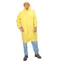 "48"" Yellow PVC/Polyester Raincoat Large"