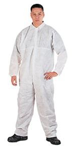 XXLG White Disposable Coveralls w/ Collar (25 Coveralls)