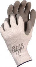 ATLAS Therma Fit Gray Latex Palm Coated Glove XL