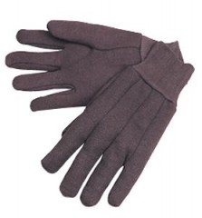 10oz Heavy Duty Brown Jersey Gloves  (12 Pairs)