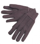 Ladies Size 10oz Heavy Duty Brown Jersey Gloves (12 Pairs)