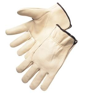 Quality Grain Cowhide Drivers Gloves w/ Wing Thumb - XLG (12 Pairs)