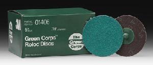 "50 Grit MMM1406 Brand New! 3/"" 3M Green Corps Roloc Discs"