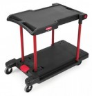Rubbermaid Black Convertible Utility Mobile Cart