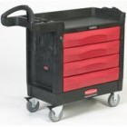 Rubbermaid Black TradeMaster 4-Drawer Mobile Cart