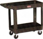 Rubbermaid Black 2-Shelf Utility Cart