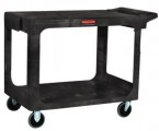 Rubbermaid Black Flat Shelf Utility Cart