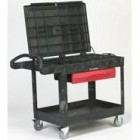 Rubbermaid Black TradeMaster Professional Contractor's Mobile Cart
