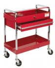 Sunex Deluxe Red Service Cart w/ Locking Top & Drawer