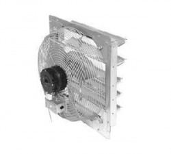 "TPI 24"" 2-Speed Shutter Mount Direct Drive Exhaust Fan"