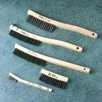 Sait 3 x 14 Carbon Steel Wire V-Groove Scratch Brushes (12 Brushes)